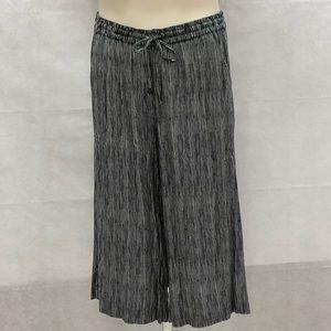 Cynthia Rowley black white stripe cropped pants